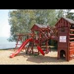 Balatoni Hullám Üdülőparkban új 3 hálószobás, vízközeli, klímás, jakuzzis minimál luxusvilla kiadó