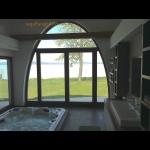 Luxus, új építésű, jakuzzis, klímás minimál nyaralóvilla kiadó saját partszakasszal