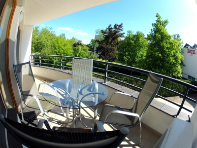 "In Balatonlelle near to the ""Napfeny"" beach a first-floor luxurious apartment is for rent for max. 5 persons"