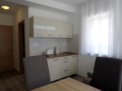Balatonlellén a Balatontól 150 méterre új építésű apartmanházban földszinti apartman kiadó max. 2+3 fő részére Fsz.1. apartman