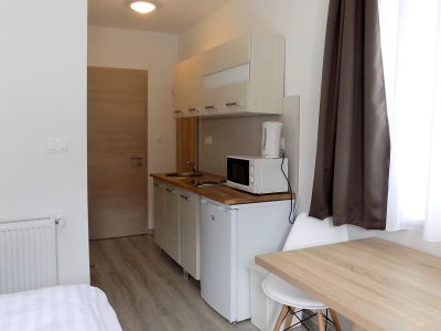 In Balatonlelle, 150 meters from Lake Balaton a ground floor studio apartment in a newly built apartment building is available for 2 people (apartment FSZ 3.)