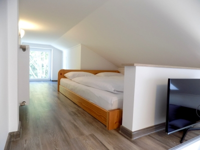 In Balatonboglár, 150 meters from Lake Balaton, a first floor apartment in a newly built apartment building is available for 4 people (apartment E 4.)